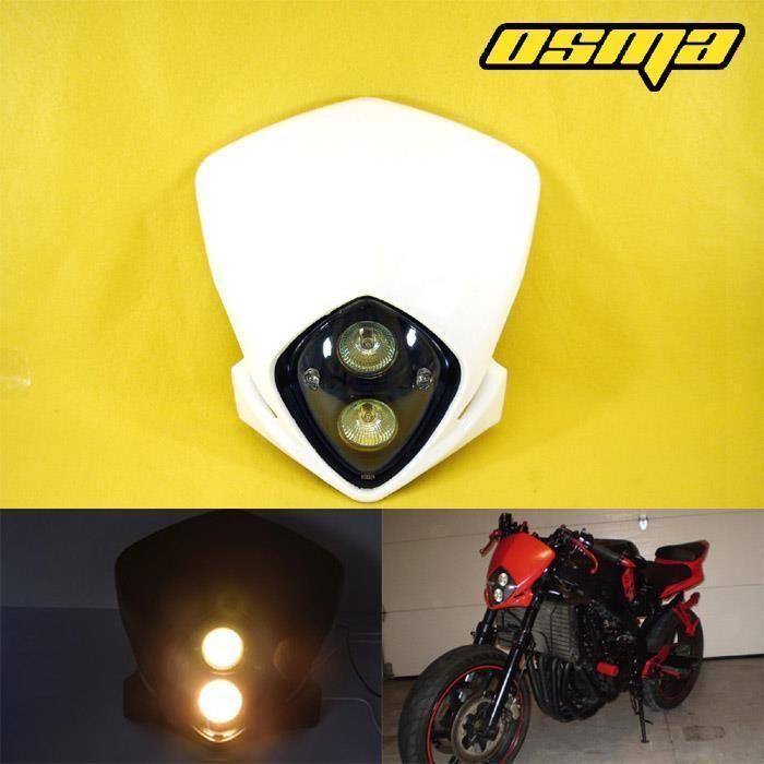 Universal Headlight Head Lamp Light Fairing Streetfighter Supermoto Motocross