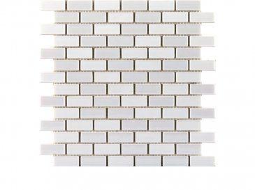 Glaze Brick White, Mosaicos De La Colección Glaze