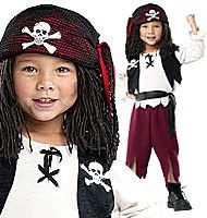 PIRATE captain Hook Pirates fancy dress up Party costume wooden leg hat 9-10 yrs