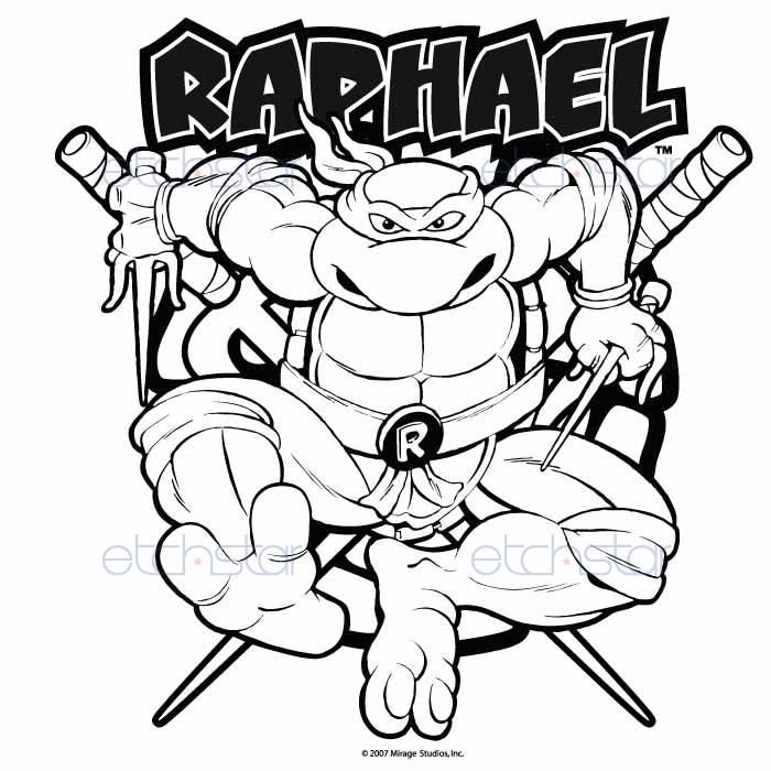 Teenage Mutant Ninja Turtles Raphael Coloring Pages Ninja Turtle