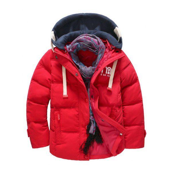 GAGA Men Down Jacket Hoodie Winter Casual Overcoat Coat