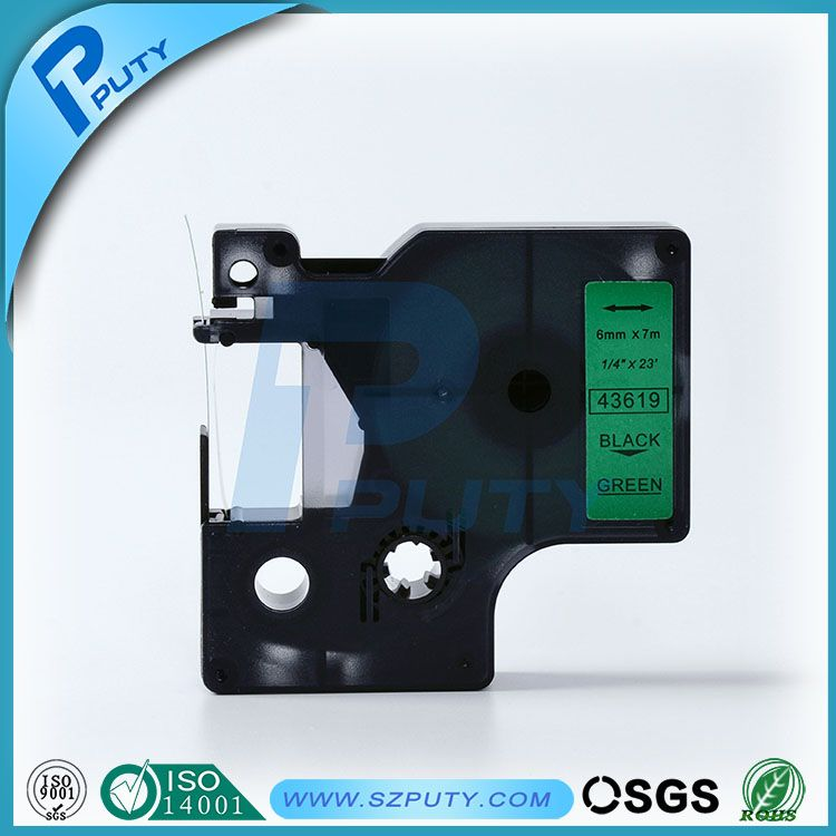 Compatible Black On Green 43619 6mm Label Tapes For Dymo Label Printers Label Printer Dymo Label Office And School Supplies