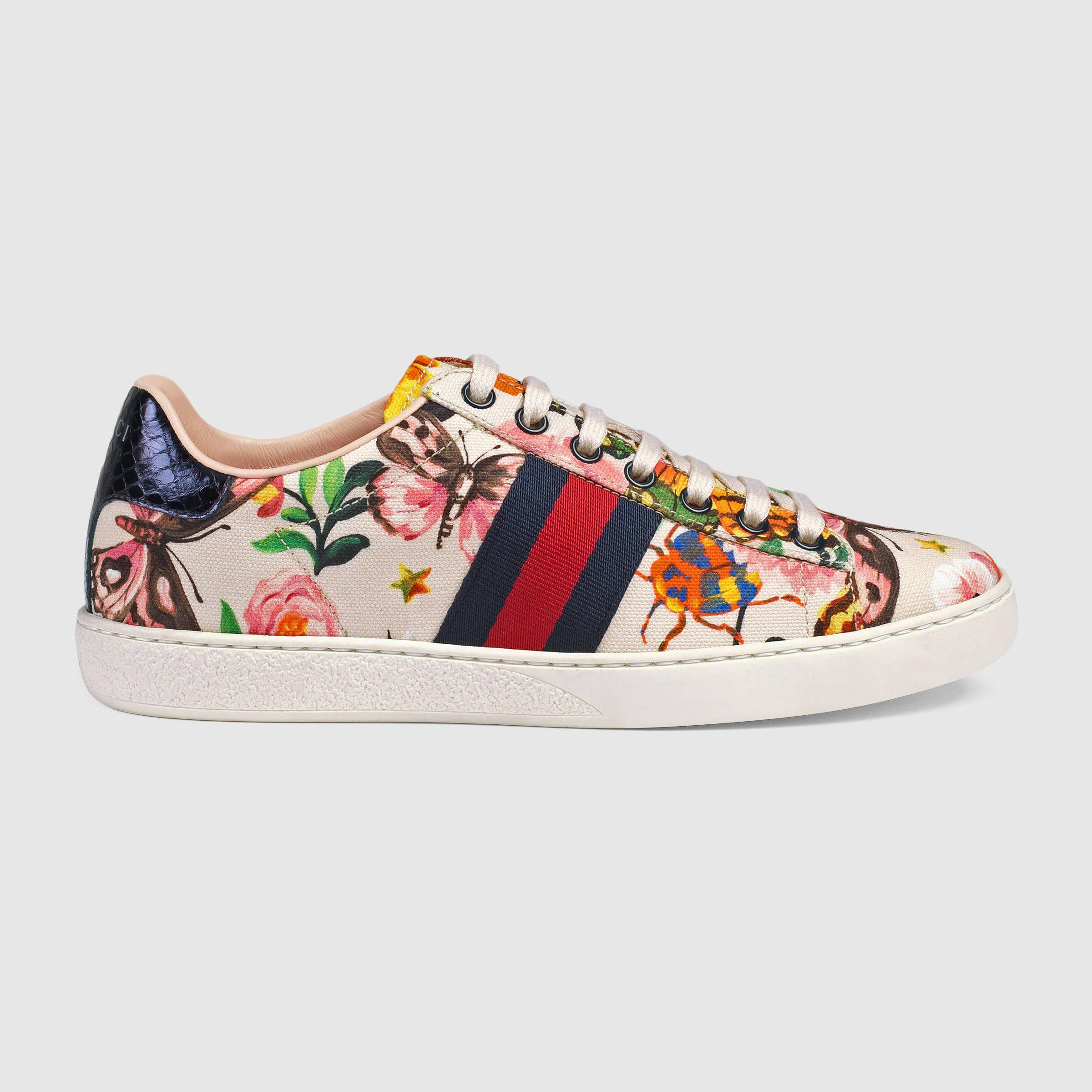 7f92755822e2 Gucci Women - Gucci Garden exclusive Ace sneaker - 438217K3Q109263 ...