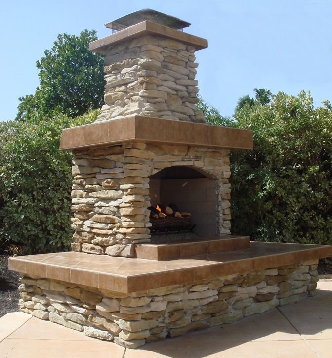 36 Stone Age Contractor Series Fireplace With An Extended Hearth