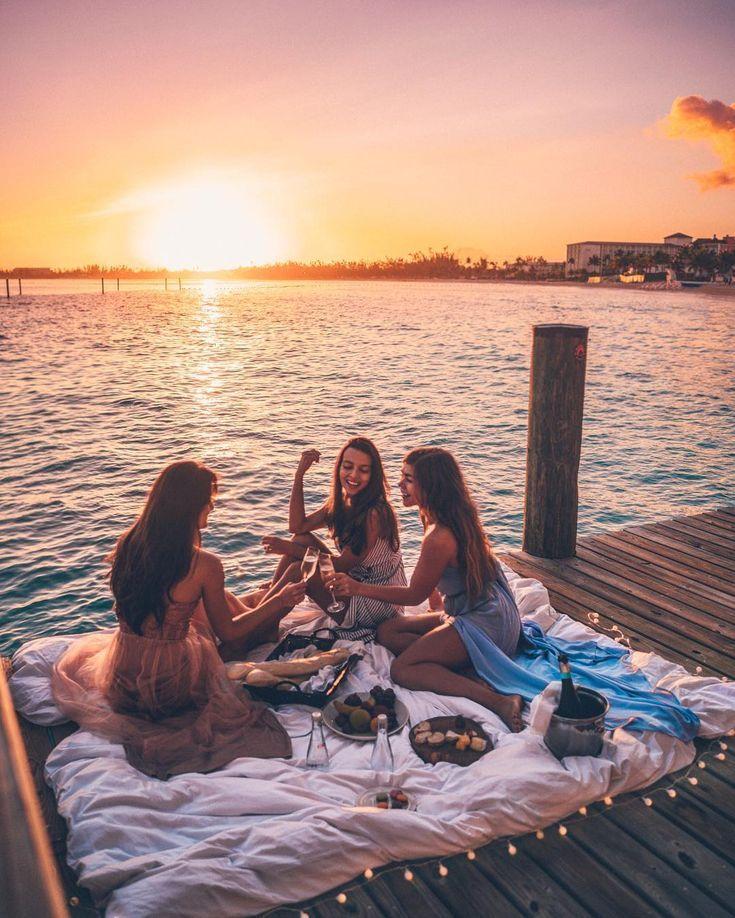 Champagne at sunrise.