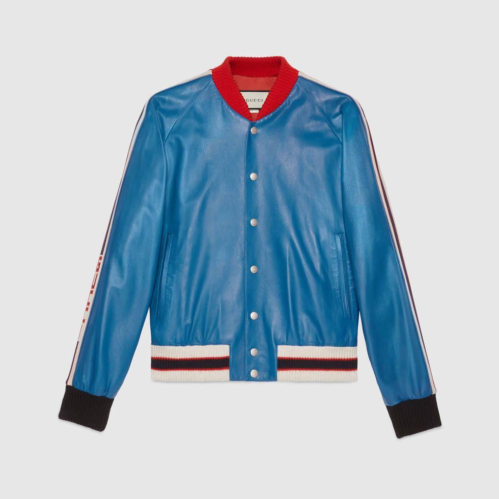 buy popular 90e0f 7790a Bomberjacke aus Leder mit Applikationen | clothes in 2019 ...