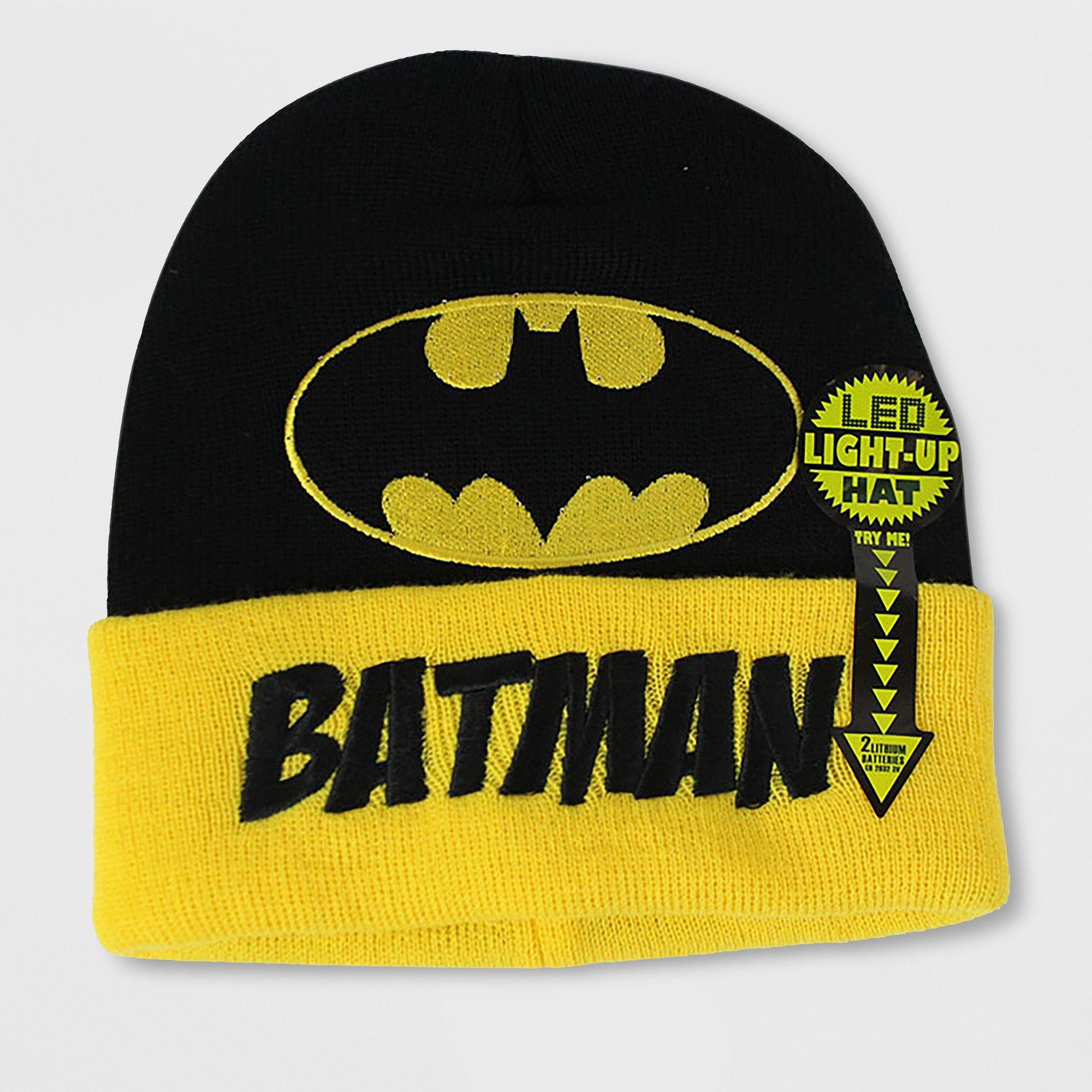 7a1c23abacff1 Batman Men s Led Beanie - Black One Size Dc Comics Characters