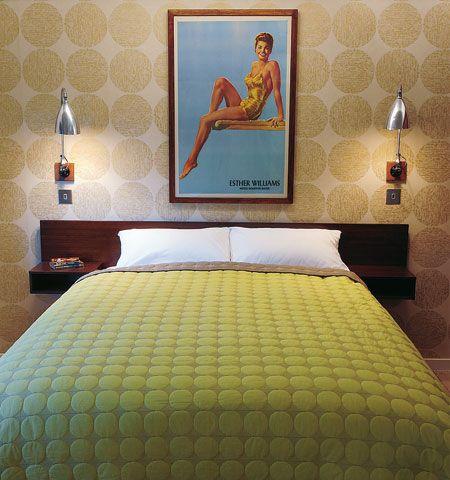 . Bedroom design ideas   in pictures   Line   dot bedding   Bedroom