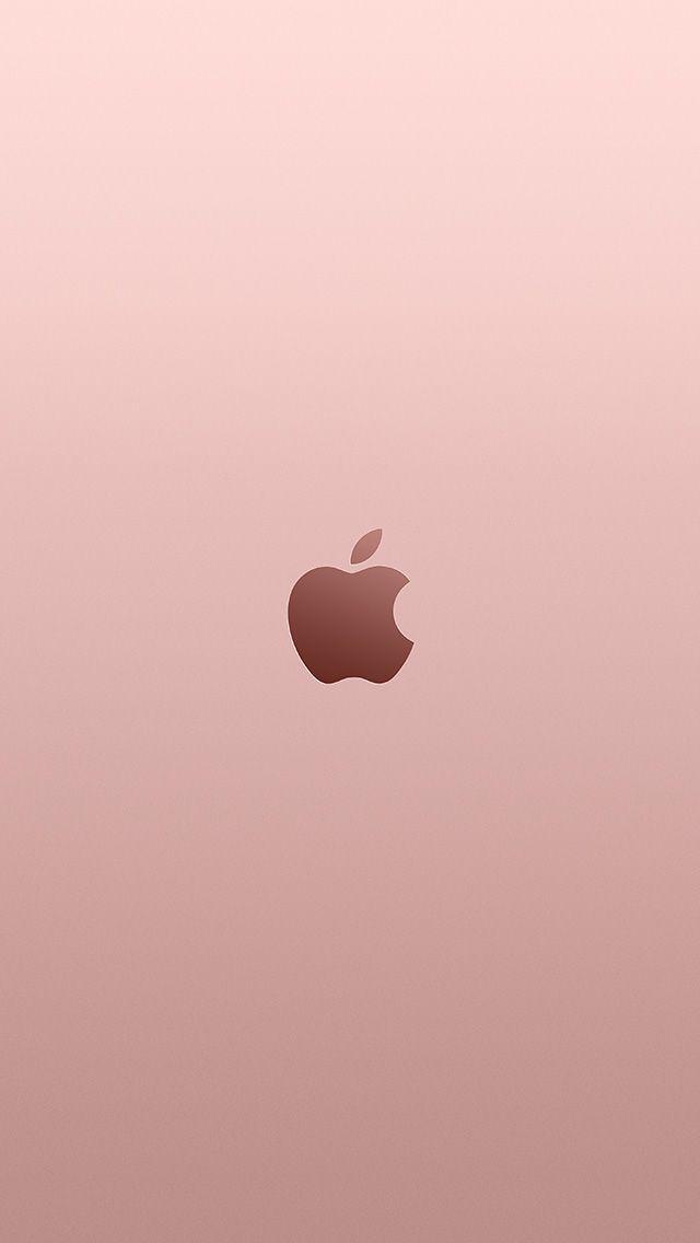 au11applepinkrosegoldminimalillustrationart Apple
