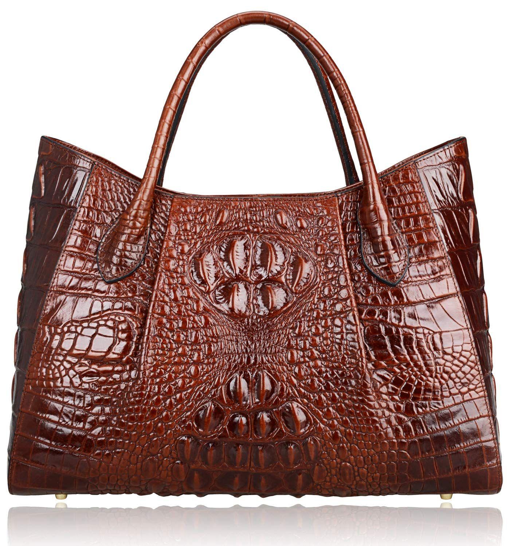 2fa1332c5b4c Fashion Bug Women Handbags Crocodile Top Handle Bag Designer Satchel Bags  For Women (22198 Coffee