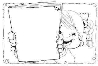 desenhos de crianças lendo livros para colorir desenhos para