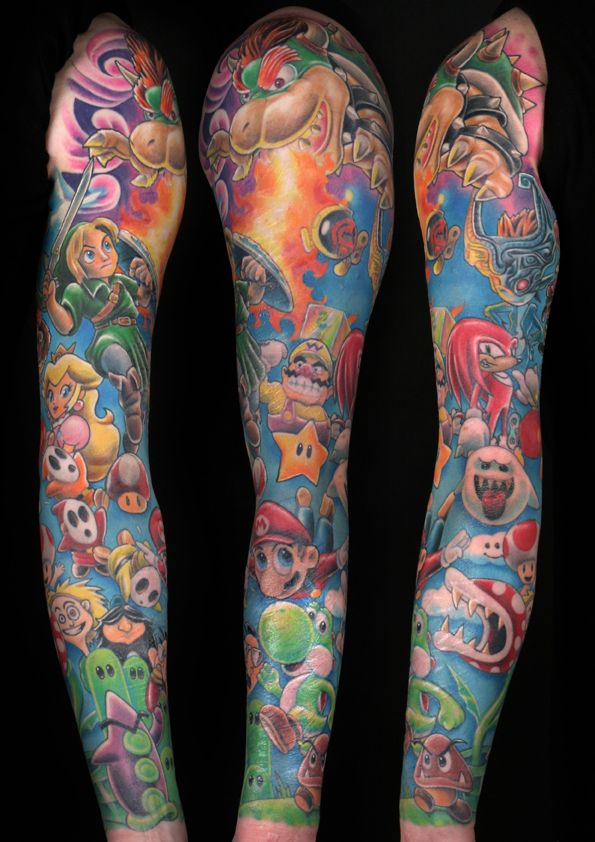 25 amazing video game tattoos video game tattoos game tattoos and video games. Black Bedroom Furniture Sets. Home Design Ideas