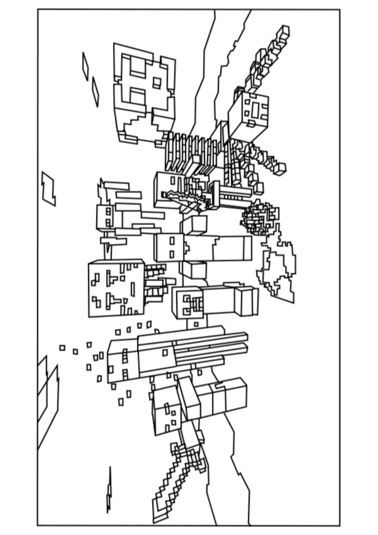Mobs Coloring Sheet Monster Coloring Pages Minecraft Coloring Pages Coloring Pages For Kids