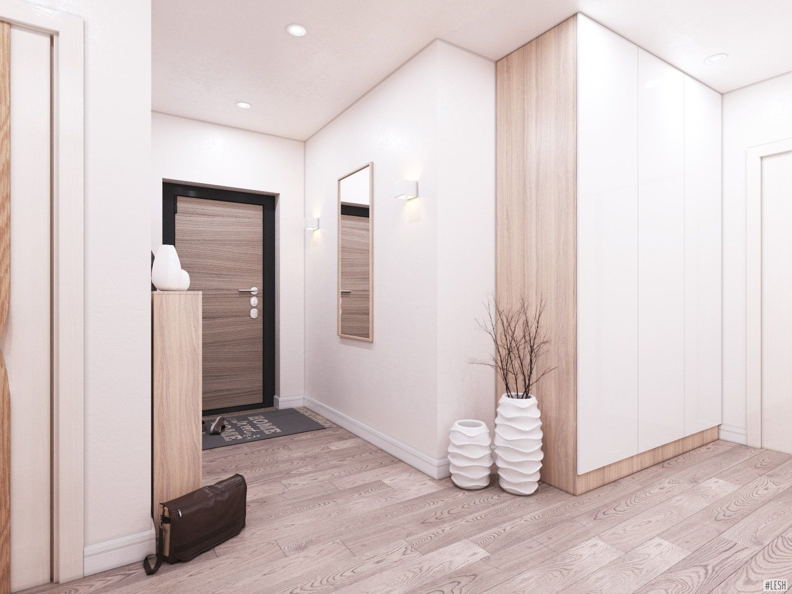 наша была фото коридора в квартире со светлым полом без