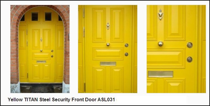 Yellow security doors :) | Security Doors | Security door