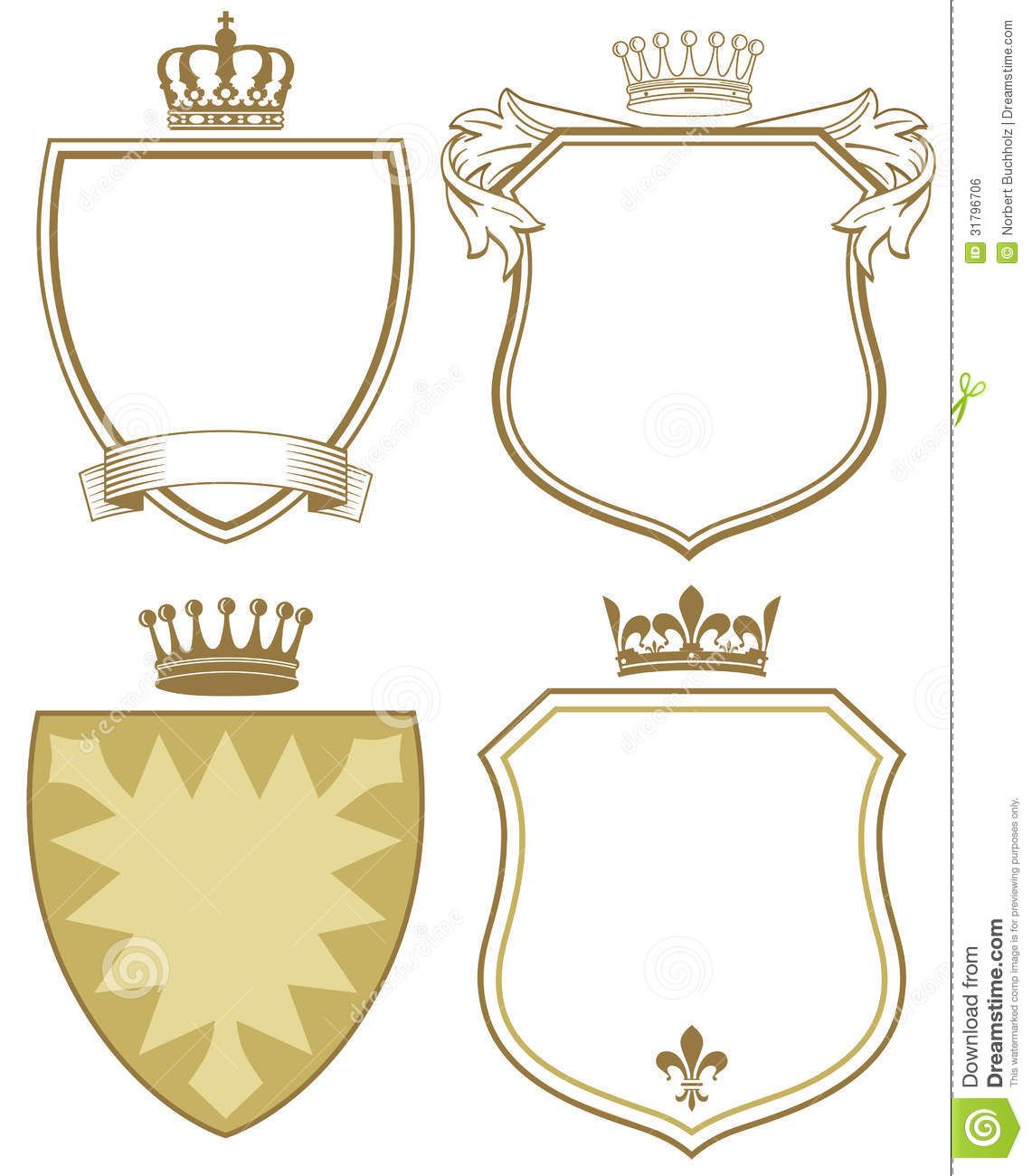Coat Of Arms Or Shields  Tatuajes    Free Stock Image