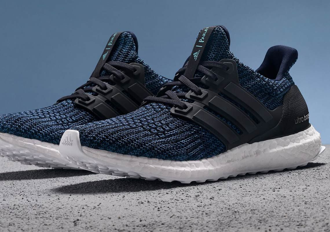 Adidas X Parley Ultra Boost 4 0 Deep Ocean Blue Release Date Sneakernews Com Adidas Official Shoes Sport Shoes