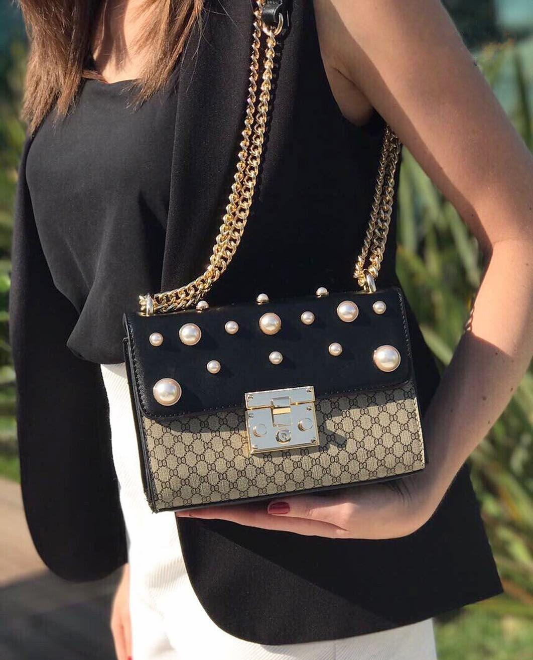 Bolsa Gucci Pequena Inspired : Bolsa inspired gucci padlock supreme transversal na cor