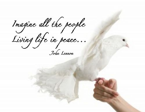 """Imagine All the People, Living Life in Peace"" Word-Art Freebie"