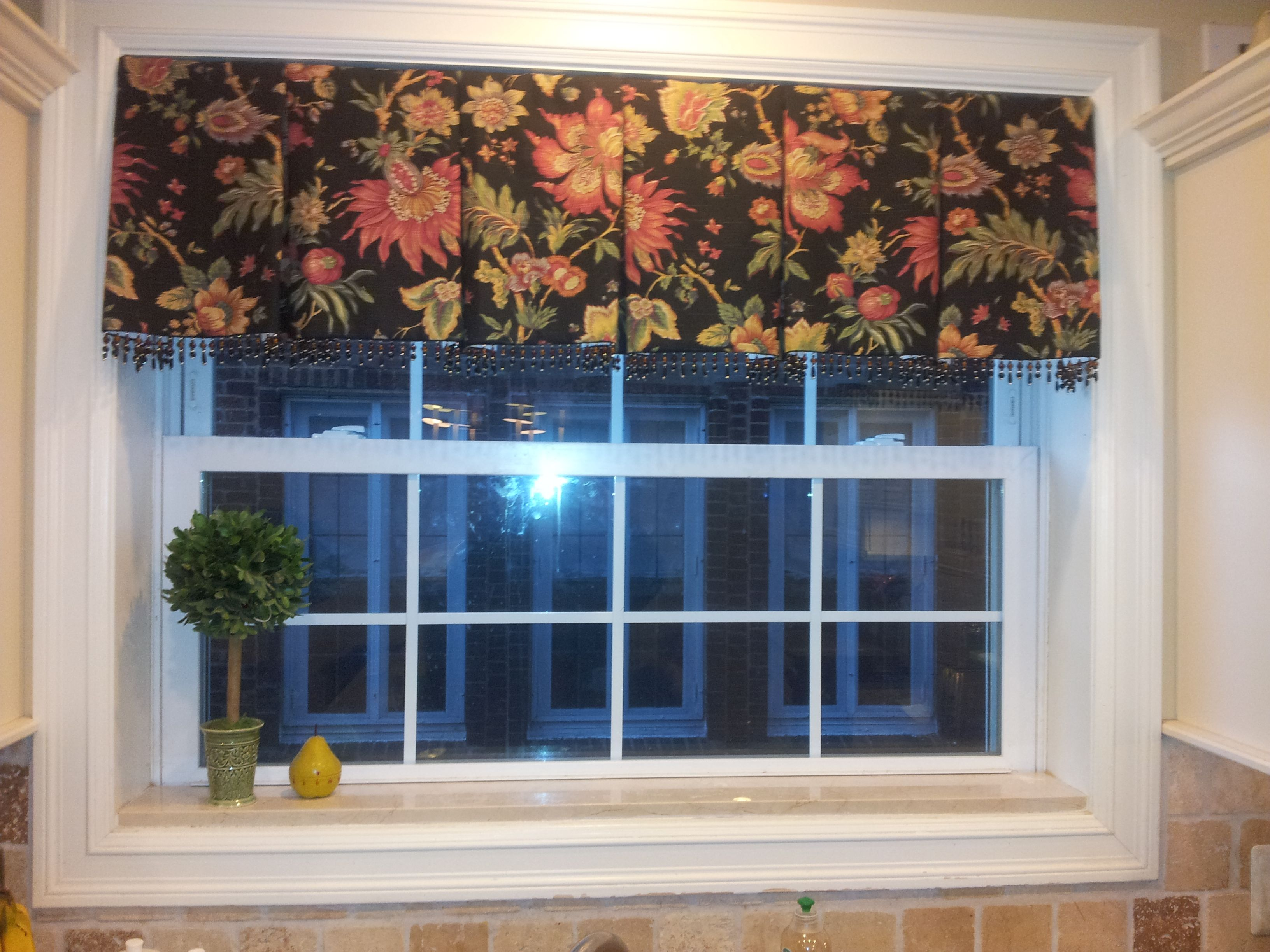 box pleated kitchen valance Window Treatments
