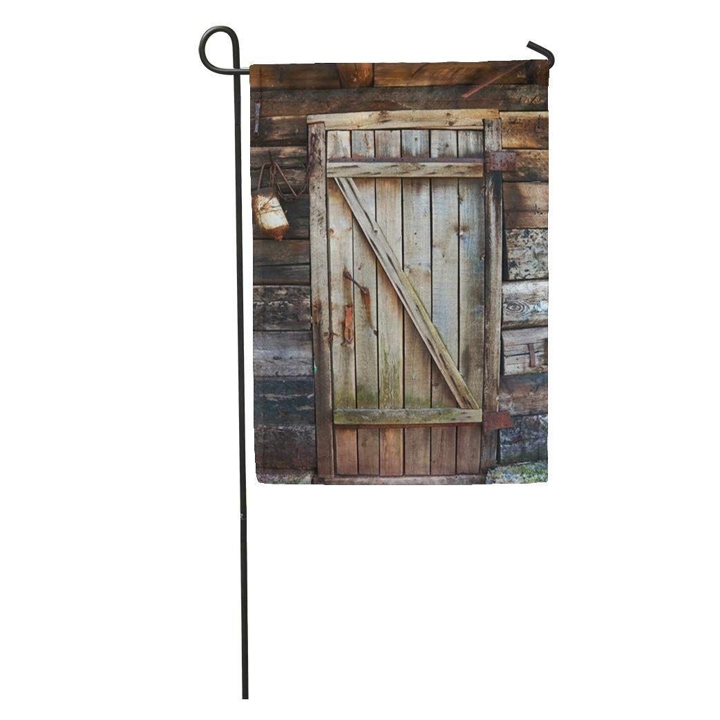 Photo of Brown Barn Old Decayed Wooden Door Gray Wood Antique Plank Doorway Garden