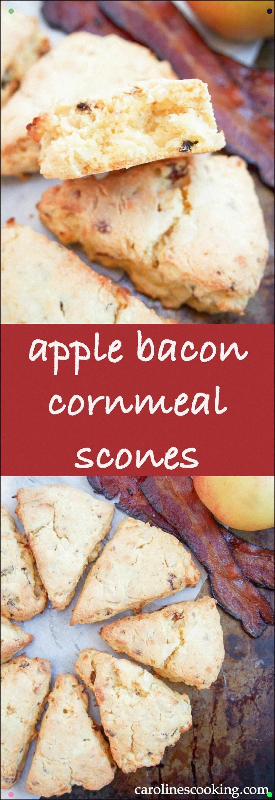 These Apple And Bacon Cornmeal Scones Are Moist And Delicious, With A Wonderful Sweet-Savory Flavor