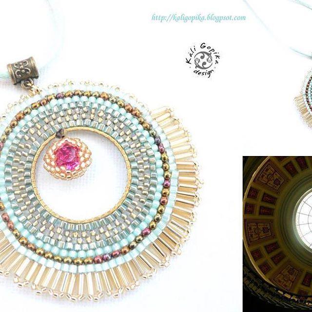 #kaligopika #beading #beadwork #handmadejewelry #brickstitch #pendant #pendentif #fashion #accessories #cristal #swarovski