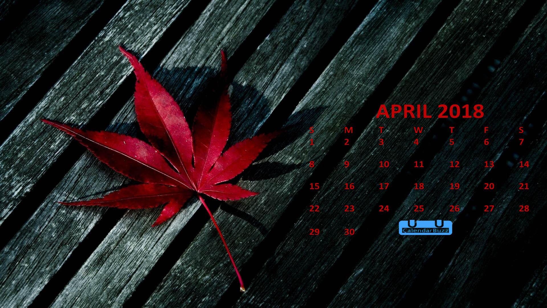 april 2018 calendar hd
