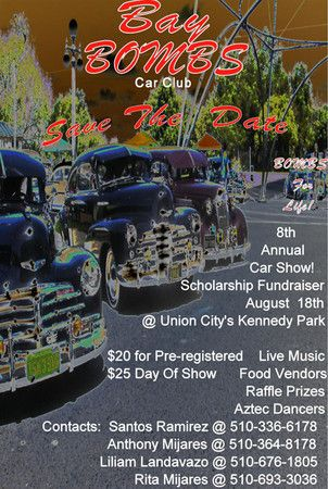 Bay Bombs Car Show And Scholarship Fundraiser Union City Art - Bay city car show 2018