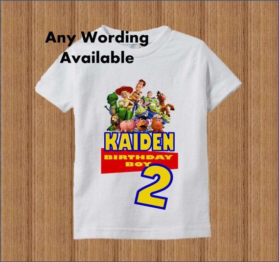 3e36709831ed6 Toy Story Birthday Shirt Boys Toy Story by BirthdaysGalore   Party ...