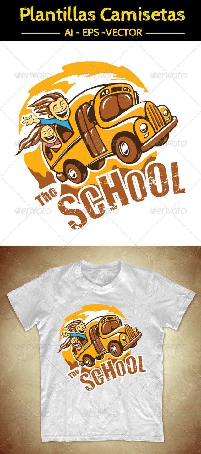 "Camiseta para niños ""Autobús Escolar"" | Art work | Pinterest ..."