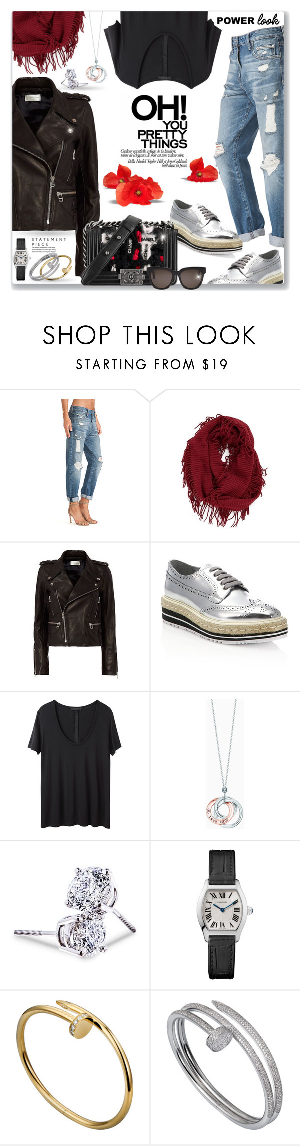"""""""Power Look"""" by sjkfavorites ❤ liked on Polyvore featuring Lovers + Friends, BP., Faith Connexion, Prada, The Row, Tiffany & Co., Lord & Taylor and Gentle Monster"""