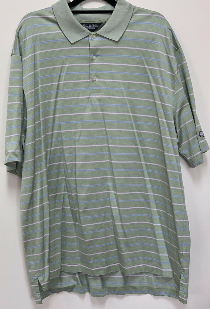 d5094212 NEW Brooks Brothers Short Sleeve Performance Knit Polo Golf Shirt Stripe  XXL #fashion #clothing