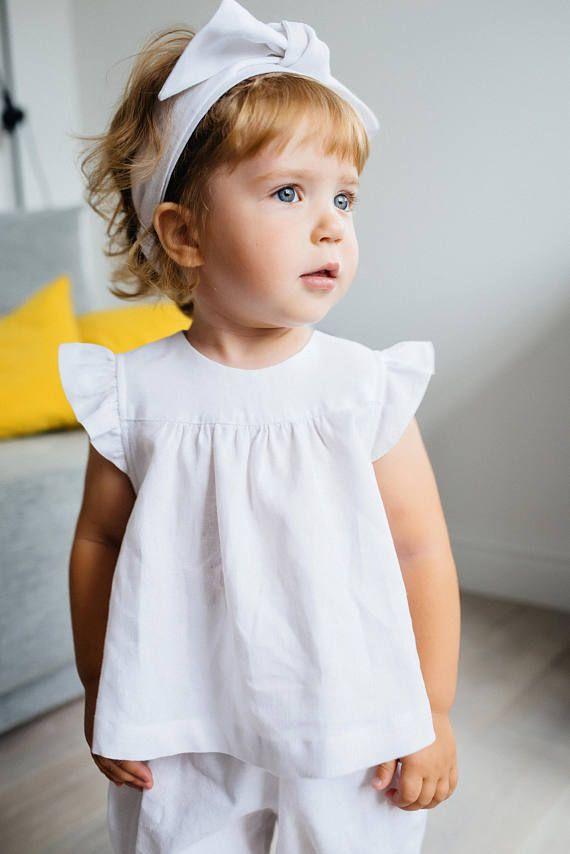 Baby Linen T Shirt Baby Linen Pants White Linen T Shirt Organic