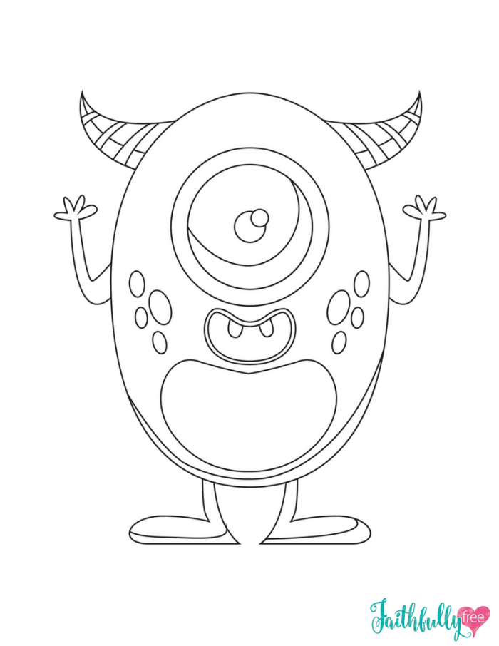 image regarding Monster Coloring Pages Printable known as Monster Coloring Webpages No cost Printables Faithfully Cost-free