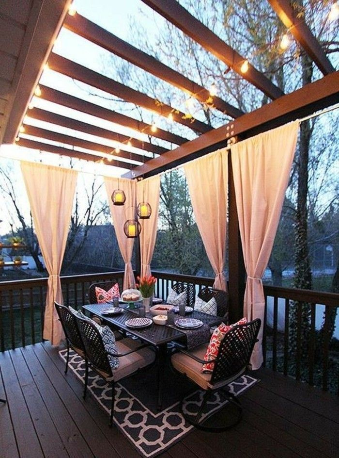 Sichtschutz für Terrasse und Balkon – draußen versteckt sitzen,  #Balkon #Draussen #für #Sich…