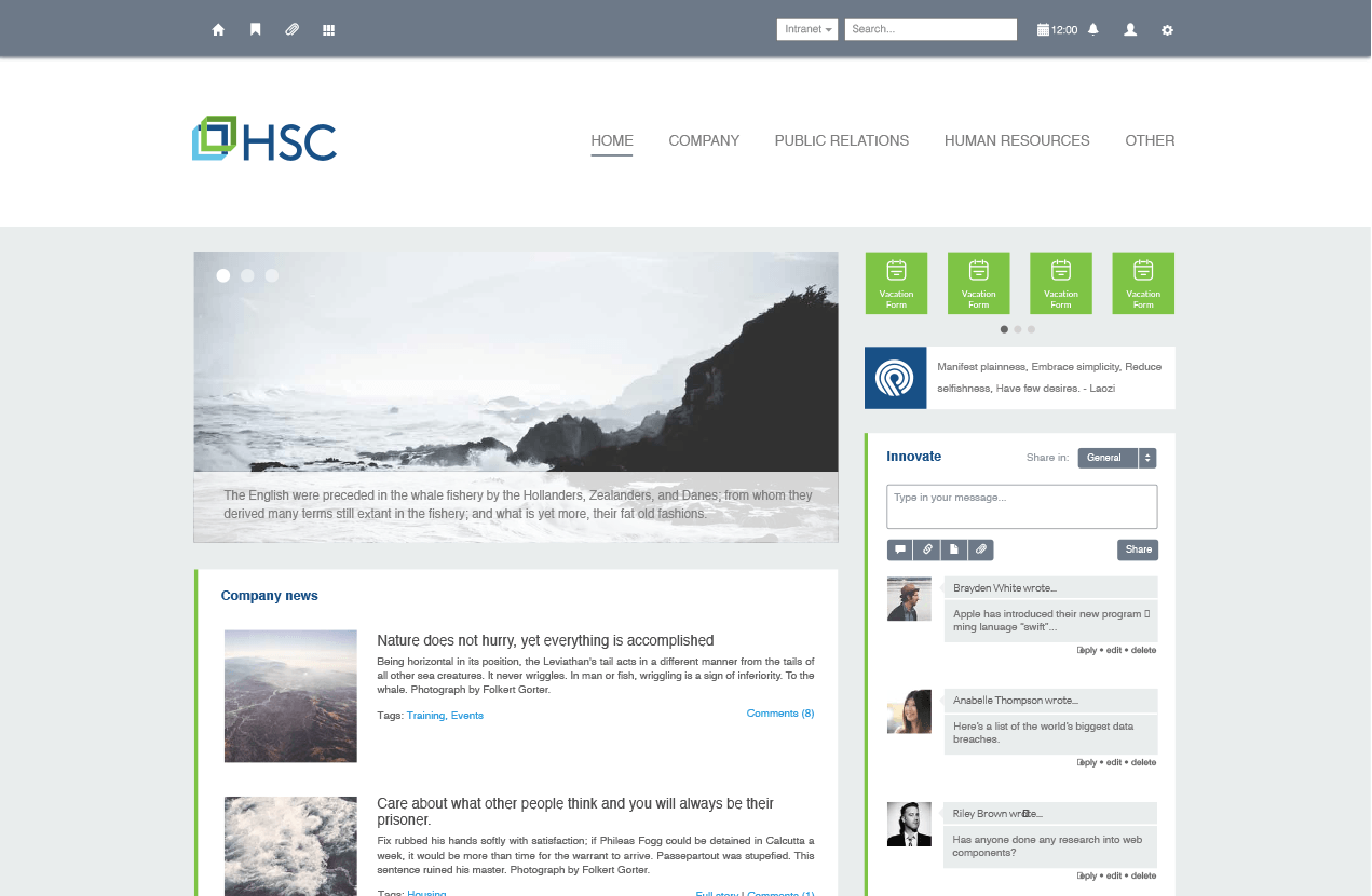 hsc jobs intranet design - Intranet Design Ideas