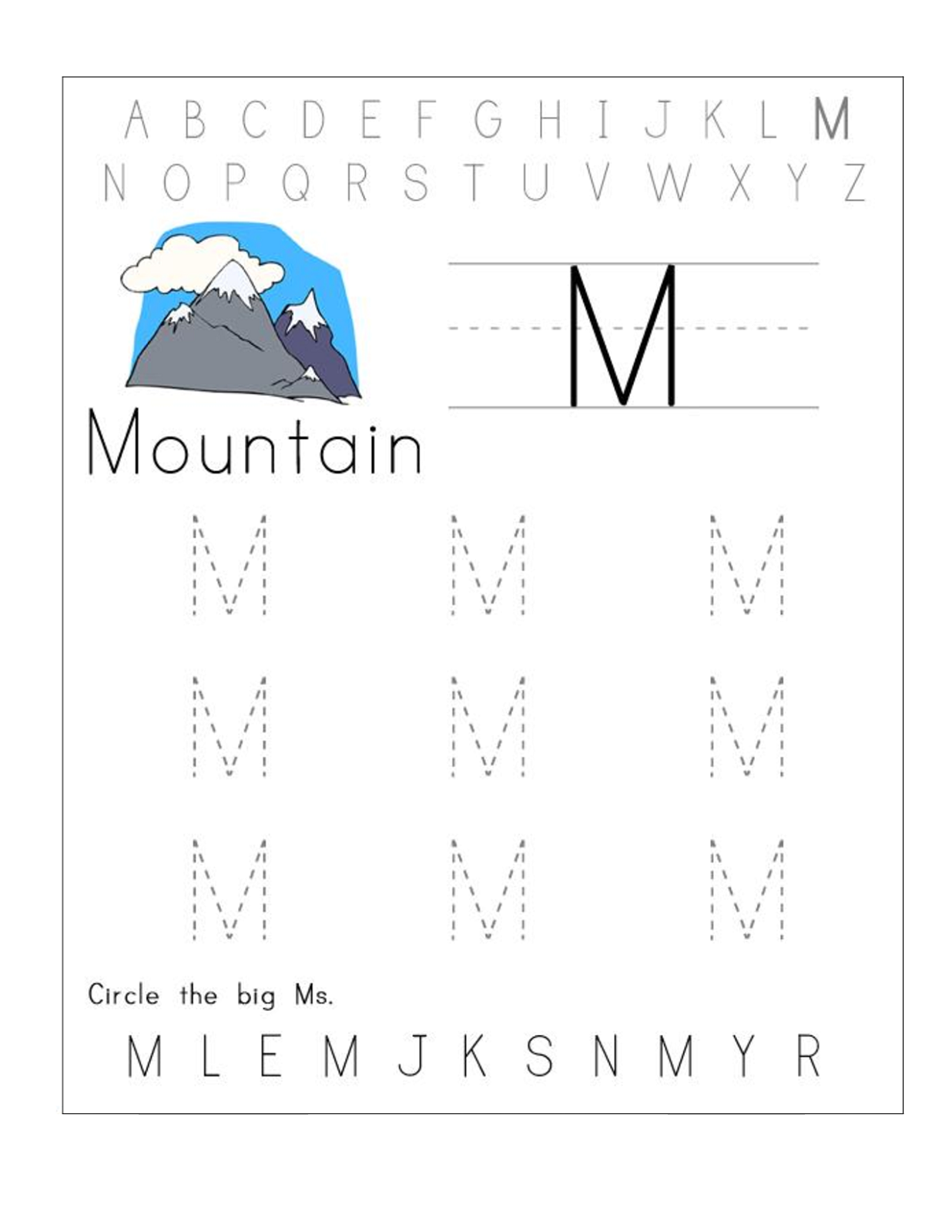 Printable Abc Worksheets Free In
