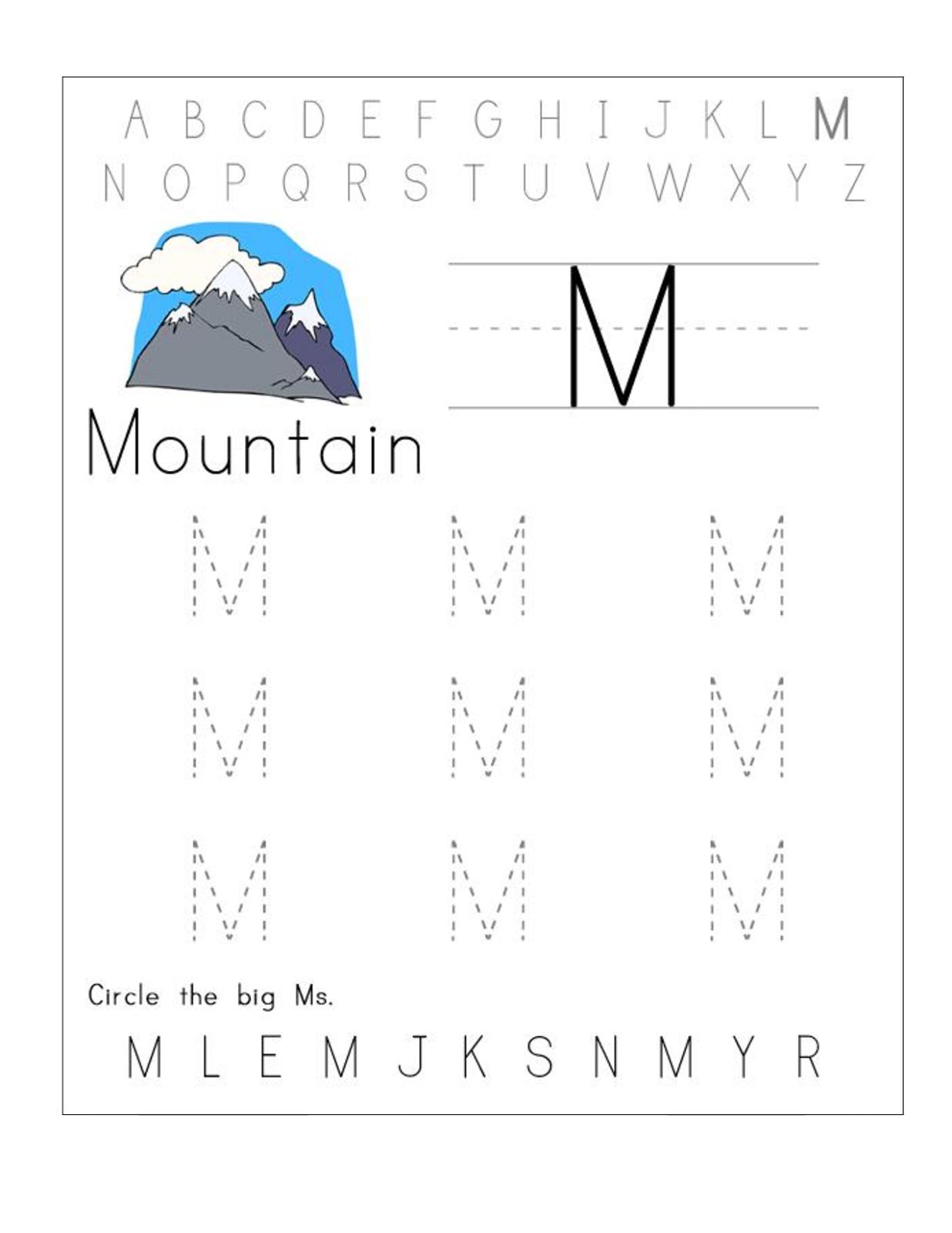 Printable Abc Worksheets Free In