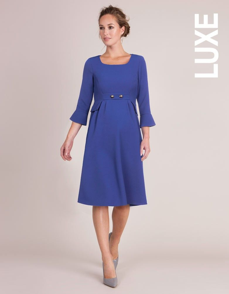 1061bffb59d Royal Blue Tailored Maternity Dress
