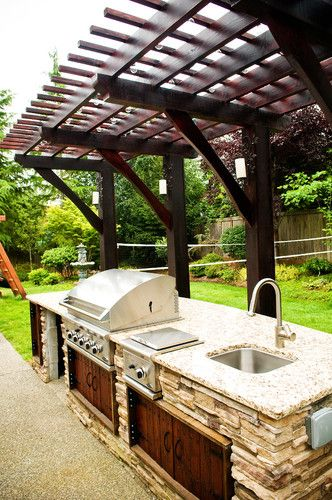 Seattle Patio Design Pictures Remodel Decor And Ideas Page 39 Simple Outdoor Kitchen Outdoor Kitchen Design Diy Outdoor Kitchen