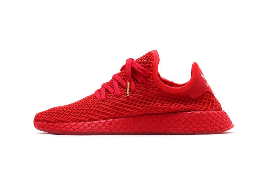 atmos x adidas Originals Deerupt Schuhe Rot | G27330