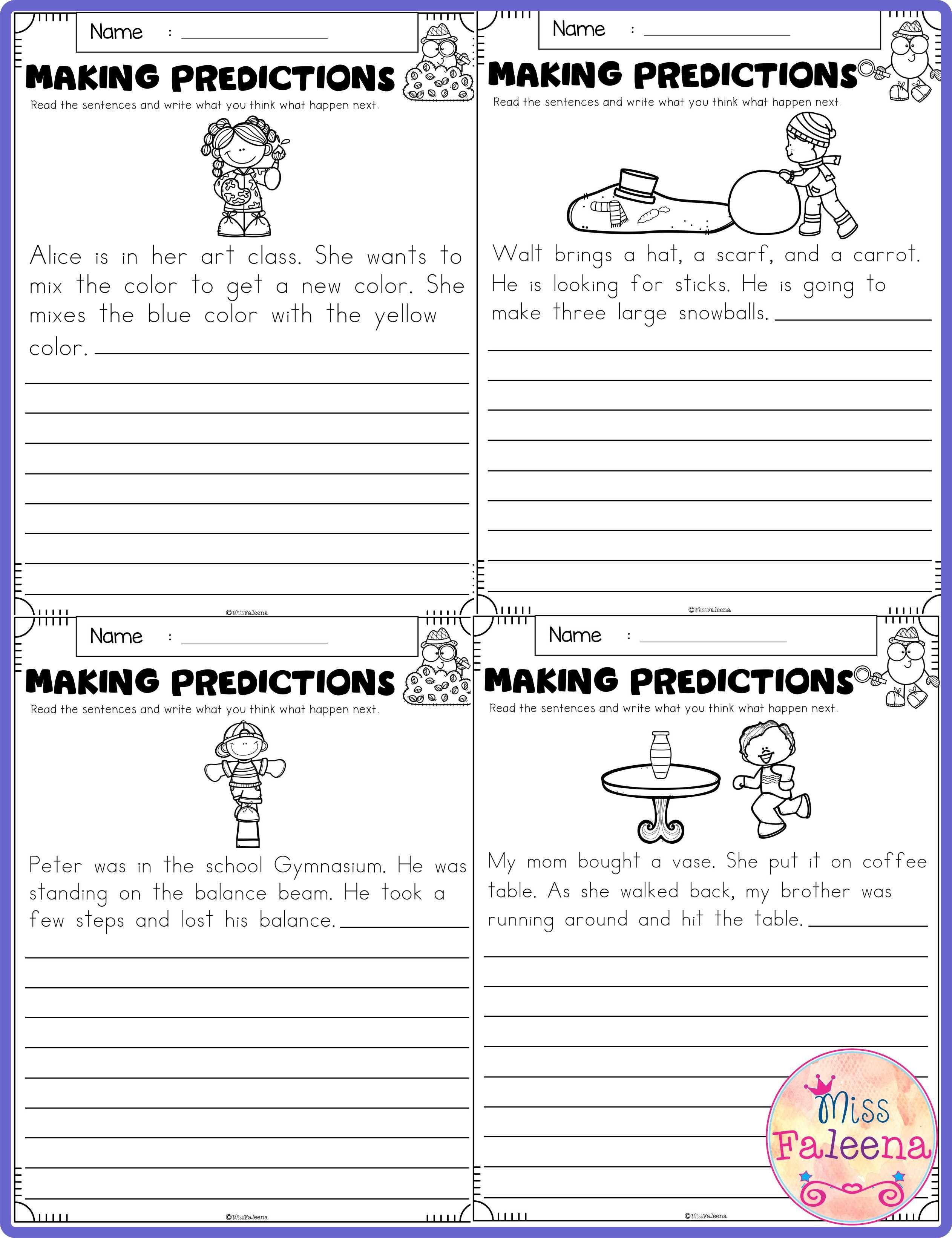 Free Making Predictions In 2020 Making Predictions 2nd Grade Worksheets Kindergarten Worksheets