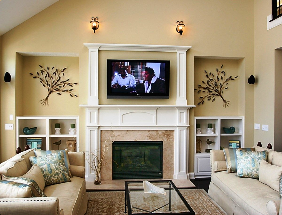Living Room Ideas With Fireplace And Tv For the Home Pinterest