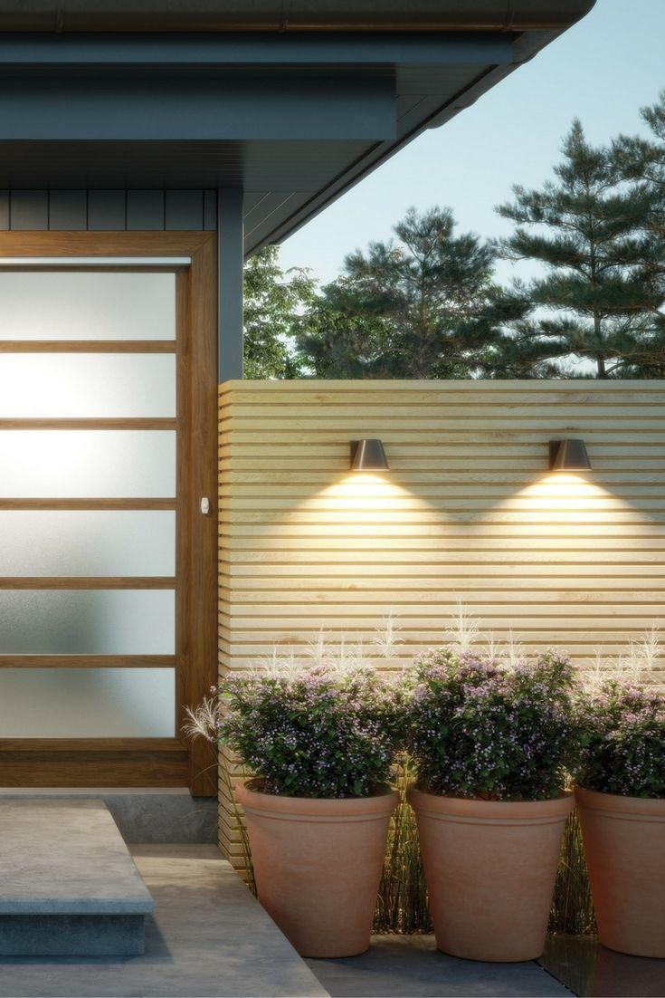 The Bowman 6 LED outdoor wall sconces by Tech Lighting are ...