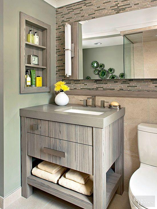19 Small Bathroom Vanity Ideas That Pack In Plenty Of Storage Small Bathroom Vanities Small Bathroom Sinks Small Space Bathroom