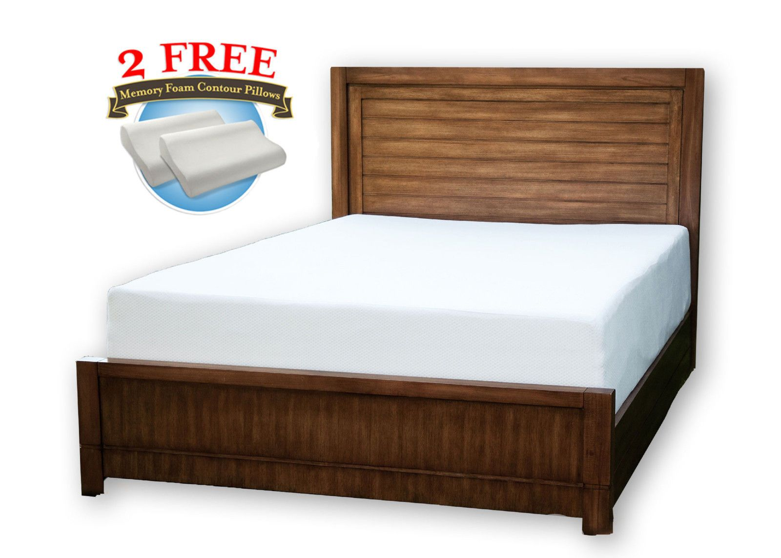 "New 10/"" COOL Medium-Firm Memory Foam Mattress 2 FREE Pillows Cover Twin Size"