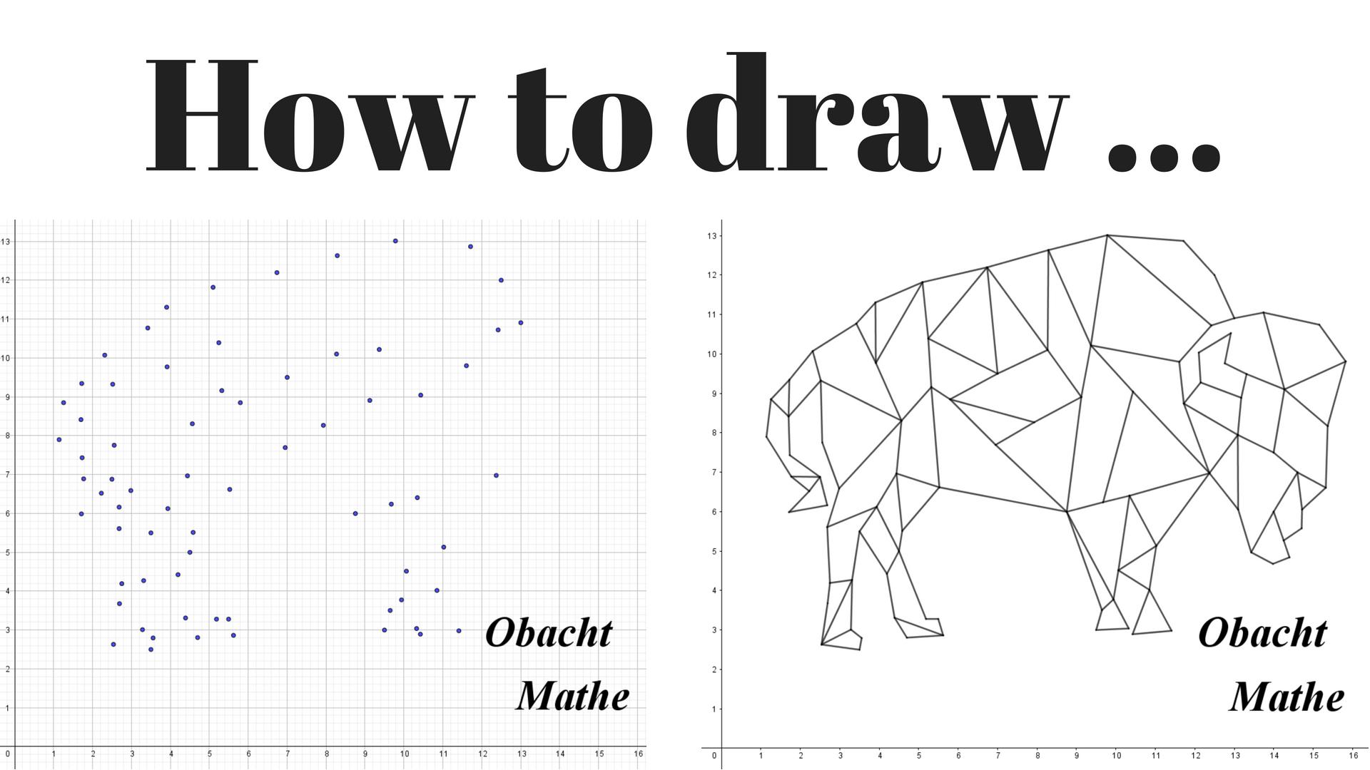 How To Draw A Buffalo Geometric Wie Zeichnet Man Einen Buffel Geometrisch Paint By Numbers Malen Nac Malen Nach Zahlen Geometrisch Geometrisches Tier
