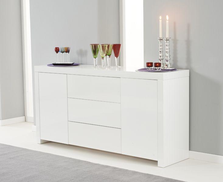 Buy The Hampstead White High Gloss Sideboard At Oak Furniture Superstore Oakfurniture Sideboard Furniture High Gloss Furniture Oak Furniture Superstore