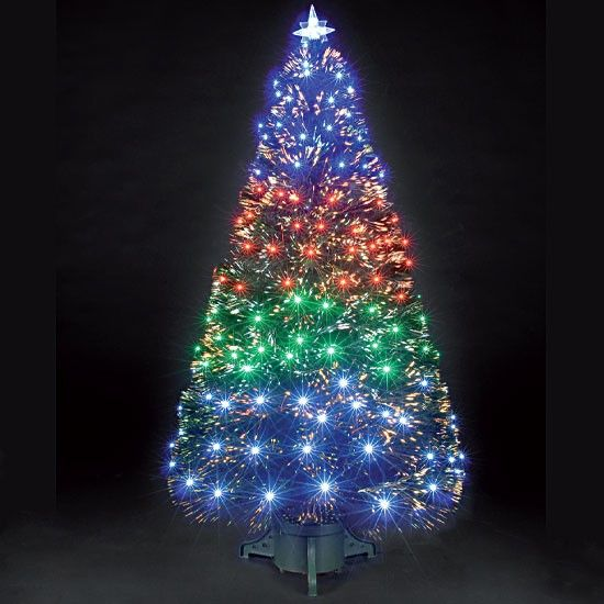 4ft 120cm Fantasia Green Fibre Optic Christmas Tree Fiber Optic  - Fibre Optic Christmas Tree Uk Only
